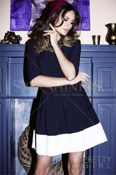 PrettyGirl Described DarkBlue Dress