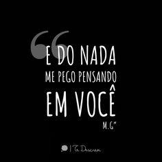 Do nada... #tedescrevi