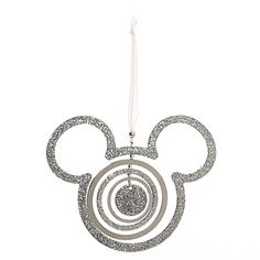 Disney Mickey Mouse Silver Icon Ornament Christmas Decoration