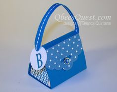 Scalloped Tag Topper Punch Purse - step by step tutorial #su