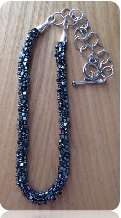 Hematite Kumihimo Necklace - made with a natural mineral that has great healing properties!