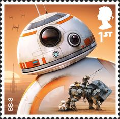 The stamps feature images of new and classic droids and aliens that have appeared across the iconic films.