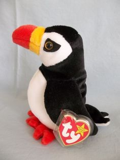 Retired 1997 Ty Beanie Babies Puffer Puffin Bird Rare  Ty I have one of  these 66fa521d9616