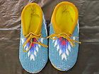 Native American Beaded Moccasins 4 1 2 inches Toddlers Unisex with Lace | eBay
