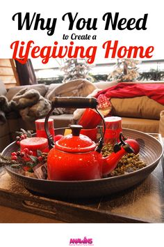 Bringing life into your home is creating the atmosphere where family feels a sense of belonging, acceptance and love no matter what happens. A place that they long for when they're not there. A place where faith and traditions make life predictable and safe. Sounds pretty amazing right? There are a few more reasons why you need to create a lifegiving home.