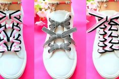 TOP 20 cool ideas how to tie shoe laces How To Tie Laces, Ways To Tie Shoelaces, Ways To Lace Shoes, How To Lace Converse, Creative Shoes, Shoe Crafts, Tie Styles, Cool Ideas, Lace Design