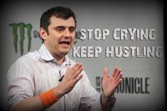 gary vaynerchuk quote,  Stop crying, keep hustling! Hustle is the most important word, ever - Gary Vaynerchuk quote
