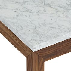 Marble Top/ Stainless Steel Base Parsons Dining Table In Dining Tables
