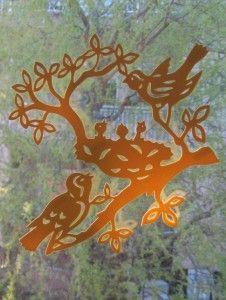 Madárfészek dekorgumiból