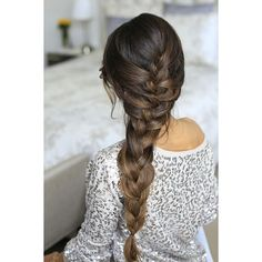 15 Cute French Braid Hairstyles ❤ liked on Polyvore featuring hair, hairstyles, hair styles, beauty and pictures