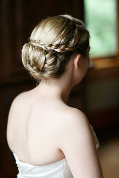 #Hairstyle | See the wedding on #SMP Weddings: http://www.stylemepretty.com/illinois-weddings/wheaton/2013/12/11/cantigny-park-wedding Kina Wicks Photography