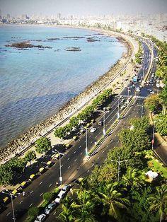 #Mumbai #Tourism #Sightseeing #Travel #Holiday #Hotel #Travel #History #Culture #Entertainment #Relax #Fun- Mumbai Marine Drive