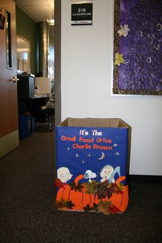 canned donation drive box ideas Fall Crafts, Diy And Crafts, Crafts For Kids, Canned Food Drive, Donate To Charity, Teacher Favorite Things, Diy Box, Creative Food, Activities For Kids