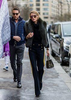 Olivia Palermo @ Paris Couture Week street style here Olivia Palermo Outfit, Olivia Palermo Lookbook, Olivia Palermo Style, Look Fashion, Fashion Outfits, Net Fashion, Couture Week, Street Style Looks, Couture Fashion