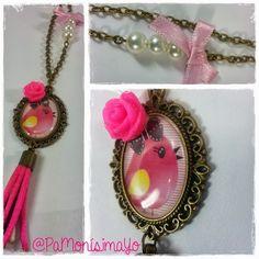 ♥ Collar camafeo pájaro