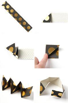 HOW TO MAKE DIY TRIANGULAR ORIGAMI BOX