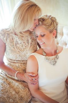 Sweet sweet sweet Mother-Daughter Moment | See the wedding on SMP: http://www.StyleMePretty.com/florida-weddings/2014/01/30/greenville-wedding-at-honey-lake-plantation-resort-and-spa/ Caroline Maxcy Photography