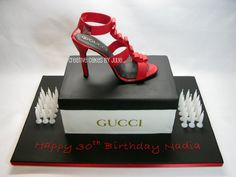 Shoebox and Stiletto Cake by Creative Cakes by Julie--this is so amazing to me!  It looks so real!