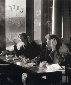 Alberto and Annette Giacometti, Café Express, Paris, December 1957.