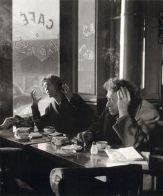 Alberto and Annette Giacometti, Café Express, Paris, December 1957.