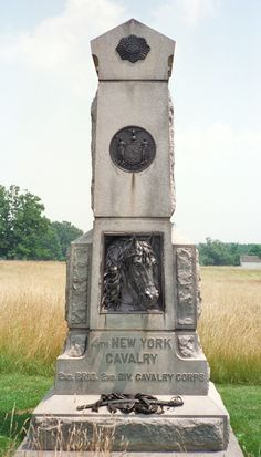 Monument to the 4th New York Cavalry Regiment on the Civil War battlefield of Gettysburg