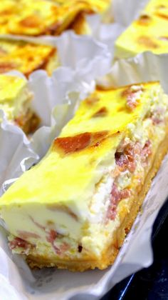 BACON CHEESECAKE CASSEROLE for a Crowd  It's a classic Quiche Lorraine made in a 9X13 Casserole Pan, 20 Servings makes this perfect for Leftovers (midnight snacking at it's best) or for the Holiday Crowds of visitors or any PotLuck Brunch.  LOADED with Bacon and Cheese and DELICIOUS!  EASY FAST and even EASIER when you do most of the work ahead of time!