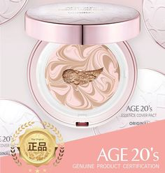 Age 20's Compact Foundation Premium Makeup, + 1 Extra Refill - Pink Latte... #Age20s