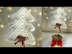 CENTRO DE MESA NAVIDEÑO DE CROCHET 🎄 | Danii's Ways ♡ - YouTube Amigurumi Doll, Crochet Earrings, Christmas Gifts, Easter, Crocheting, Patterns, Youtube, Crochet Christmas Trees, Christmas Ornaments