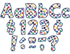 Teacher Created Resources Colorful Paw Prints Funtastic Font 4Inch Letters Combo Pack 5348 ** ** AMAZON BEST BUY ** #ChildrenArtsCrafts