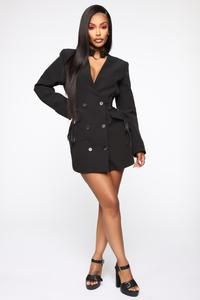 1903446c4ae Boardin' Jets Blazer Dress - Black, 2019 | CREATE YOUR OWN STYLE