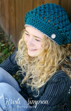 Crochet Hat Pattern Slouchy Hat Easy!