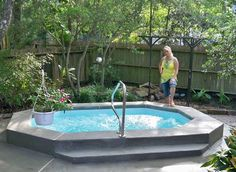 small swimming pools or large spas that look like ponds - Google Search