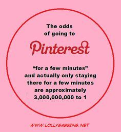 Pinterest only for a few minutes? Not so much...