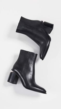 New Alexander Wang Anna Mid Heel Booties Womens Fashion Shoes. Fashion is a popular style Leather Booties, Ankle Booties, Minimalist Shoes, Cool Boots, Alexander Wang, Black Boots, Black And Brown, Chelsea Boots, Booty