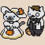 Sapphire and Jeeves Neko Atsume Cross-Stitch Pattern