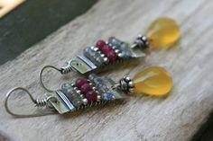 Rustic Sterling Silver AlegriaAlegria Series earrings by Tribalis