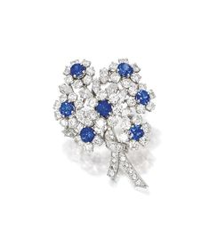 SAPPHIRE AND DIAMOND BROOCH, Tiffany & Co. | Lot | Sotheby's