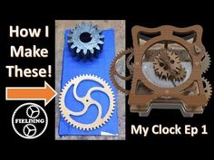 A very detailed walk through of how I design and cut nice gears without a CNC machine. Many tips and tricks for cutting accurate parts with basic wood workin. Wooden Clock Plans, Wooden Gear Clock, Wooden Gears, Wood Clocks, How To Make Wall Clock, Diy Clock, Wooden Diy, Wood Pallets, Projects