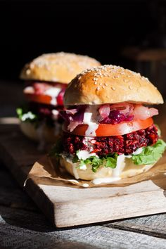Vegetarian: Original Beetroot Burgers (recipe in Polish - tell me if you need it translated into English :)