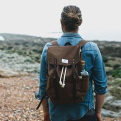 Stunning waxed canvas backpack that's built to last. Whether adventuring into the mountains or on urban explorations it will be your trusted companion for years
