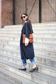 Trench Coat by H&M (Similar) // Shirt by Zara (Similar) // Bag by Chloe // Jeans by Bershka (Similar)