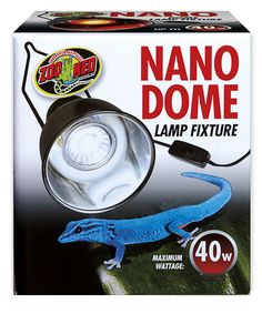 #ZooMed's Nano Dome Lamp Fixture. Perfect for all Zoo Med Nano Bulbs! #Reptiles #Amphibians