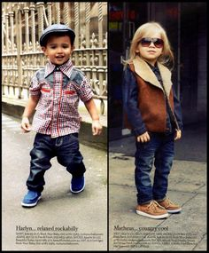 Rock Your Baby Western Shirt and Chambray cap (left) and Western Jeans (right) in Shop4Kids Autumn 2012