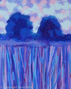 Blue Trees Twilight IV - Acrylic