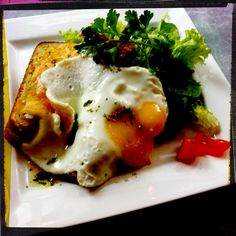 Croque Madame at #Café Bjørg's, #Copenhagen #Denmark. #Food #french
