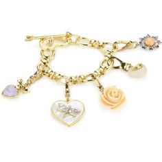 Juicy Couture Love Story-Boxed Gifting Gold Boxed Charm Bracelet Set