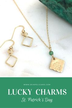St Patrick's Day, Shamrock Jewelry, Clover Necklaces, Lucky Charms for Saint Patrick's Day