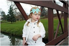 Aqua Butterfly Headband Aqua Chiffon by KennasKlippiesBows on Etsy, $8.50