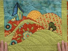 Learn an ingenious method for curved piecing in art quilts in this video. Move beyond basic curved blocks with this online class. Patchwork Quilting, Applique Quilts, Quilting Tutorials, Quilting Projects, Quilting Designs, Quilting Tips, Machine Quilting, Small Quilts, Mini Quilts