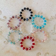 """Pick three crystal bracelets for American Girl and other 18"""" dolls by BFFandMEJewelry on Etsy"""